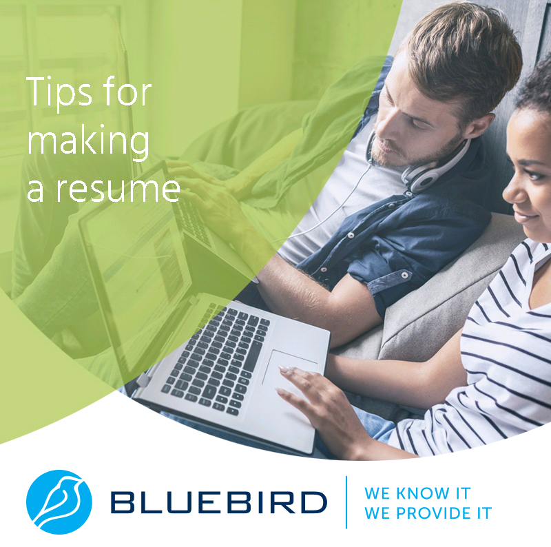 Tips for making a resumé